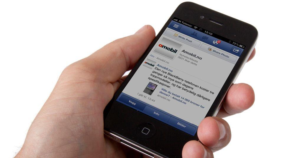 Nesten ingen sjekker Facebook daglig på mobilen
