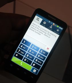 Slik ser ringemenyen i Motoluxe ut. Motorola har kalt menyene sine Motoswitch.