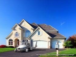 Flyvebilen kan parkeres i garasjen, eller som misunnelsesobjekt foran huset.