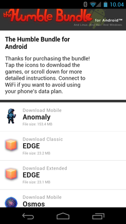 Det er enkelt å laste ned Humble Bundle-spillene for Android.