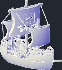 Denne stolte skuta er foreløpig en av få tilgjengelige 3D-modeller på The Pirate Bay.