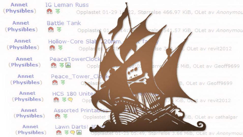 The Pirate Bay åpner for deling av 3D-objekter