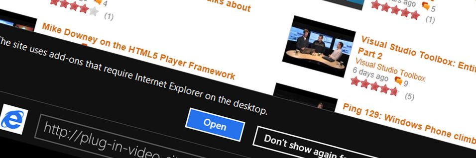 Microsoft går ut mot plug-ins