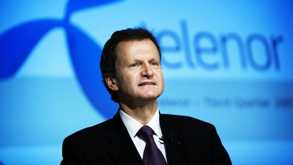 Telenor-sjef Jon Fredrik Baksaas.