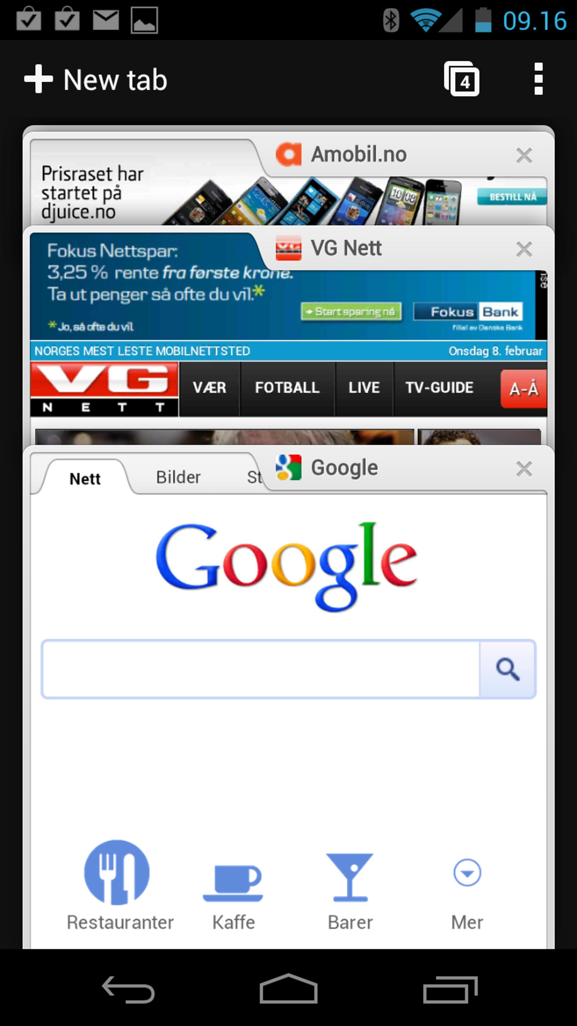 2e082627b SNIKTITT: Google lanserer Chrome for Android - Tek.no