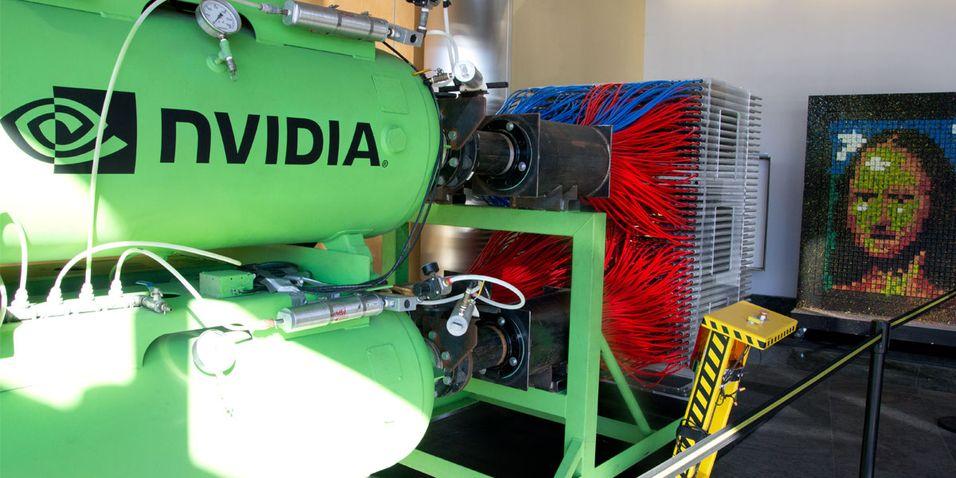 Nvidia har en paintball-markør som slår det meste. Alle foto: Hardware.no/Jørgen Elton Nilsen