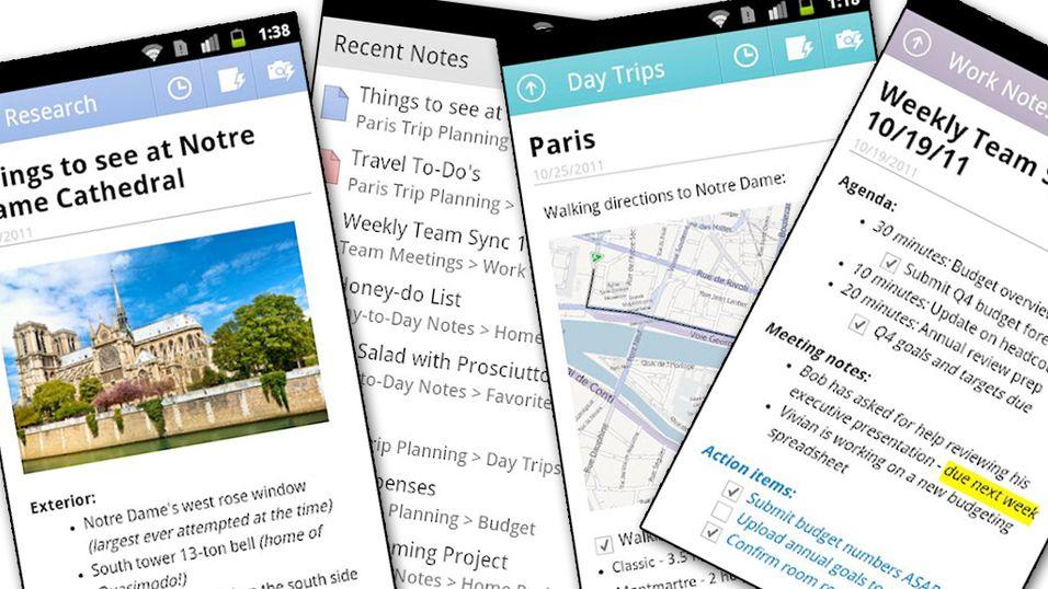 Microsofts notatblokk i Android-versjon
