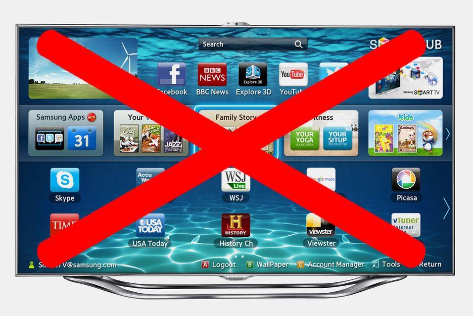 Samsungs Smart TV blokkeres