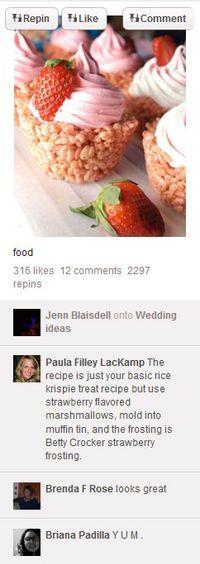 BRYLLUPSMAT? Deling av oppskrifter er vanlig på Pinterest.