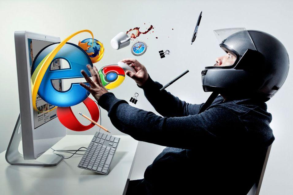 Hvilken nettleser er raskest? Illustrasjon: Niklas Plikk