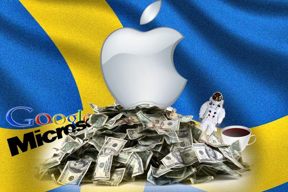 Apples børsverdi er nå høyere enn Sveriges BNP