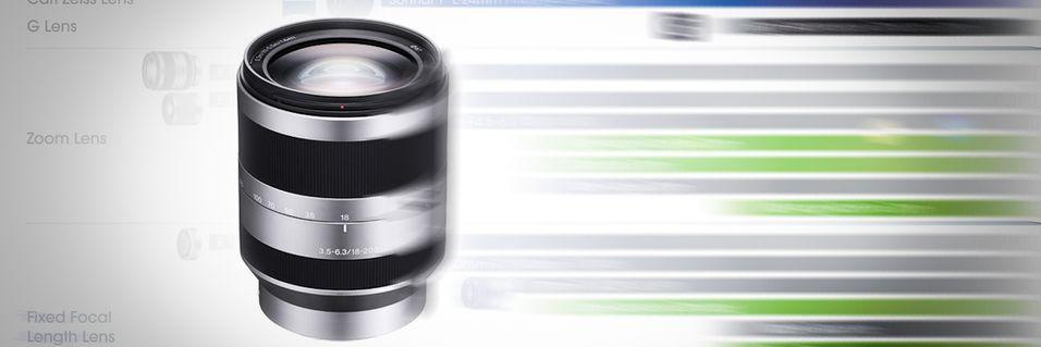 Sony viser frem objektivplaner