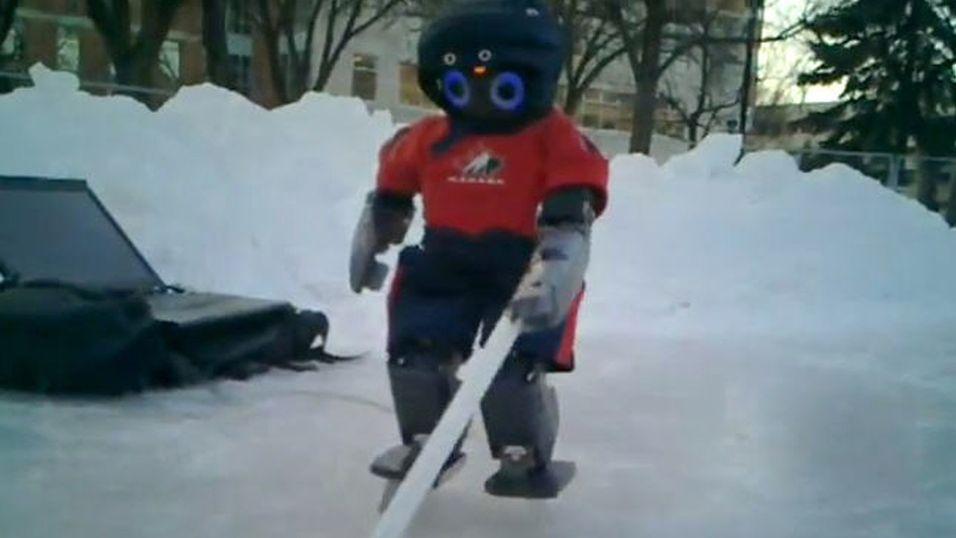 Her er verdens første hockey-robot