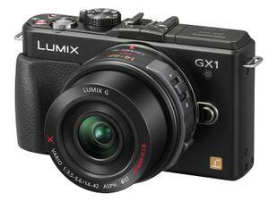 Panasonic har hatt stor suksess med sine mFT-kameraer. Her er en av dem, Lumix GX1.