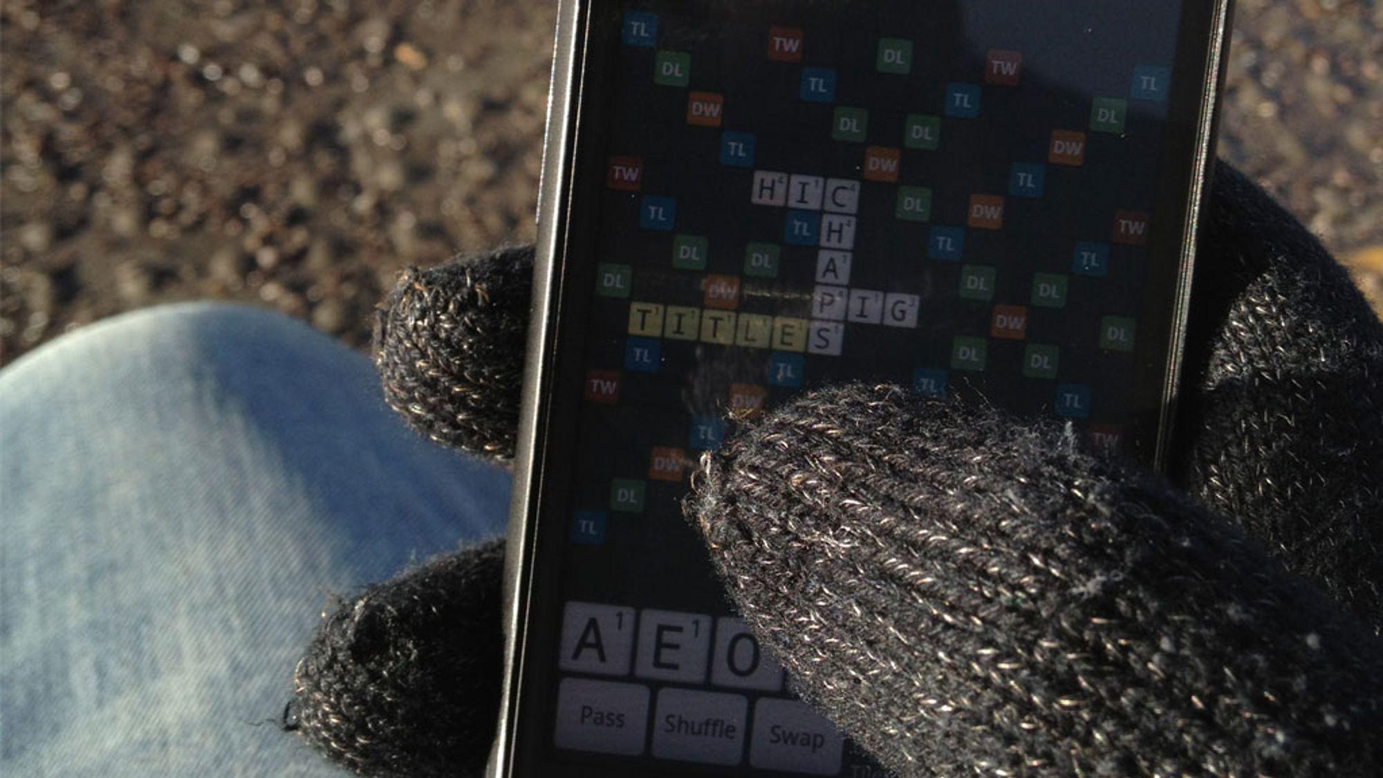 Les Hanskene som fungerer på mobilskjermen