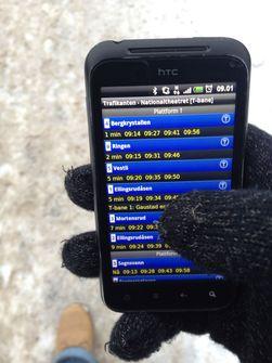 Greit å ha mobilvanter når du skal sjekke Trafikanten på mobilen.