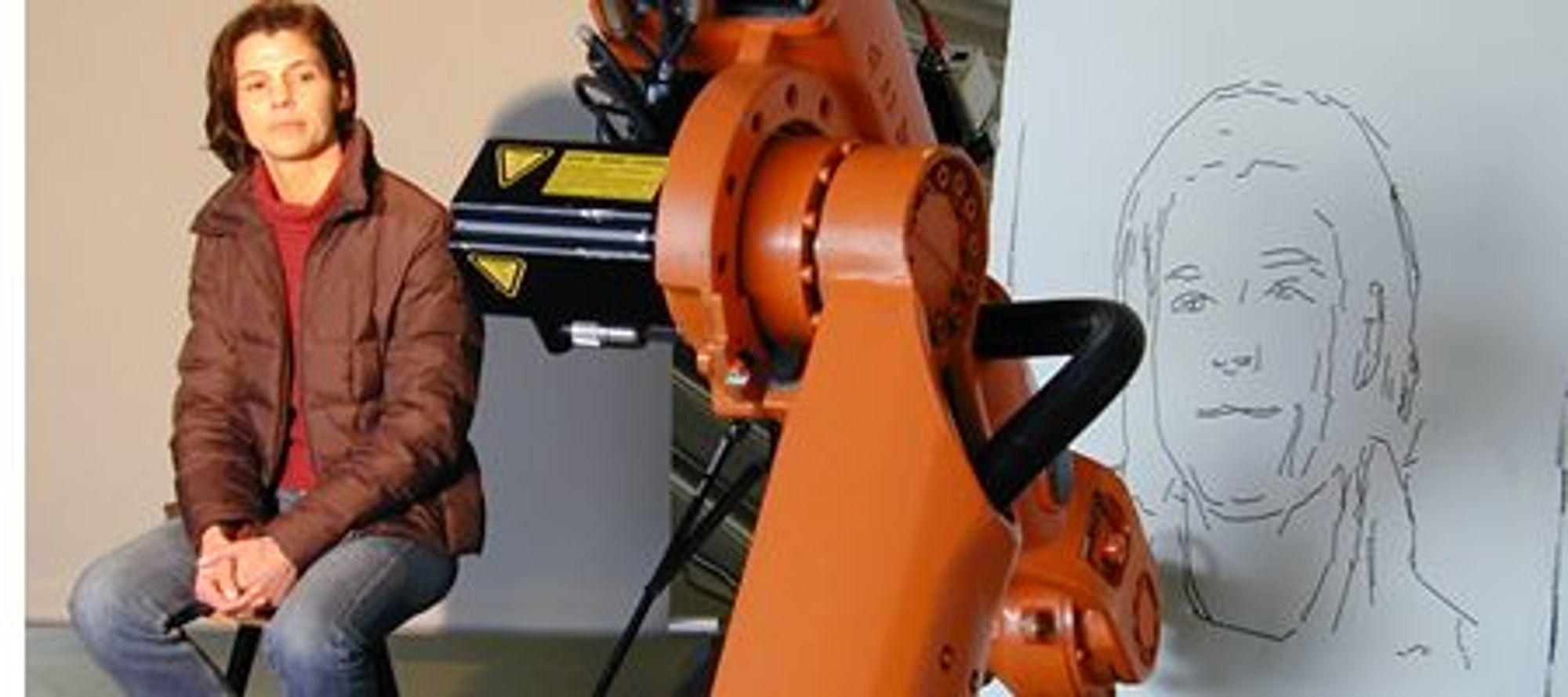 Bilde av den faktiske roboten i aksjon