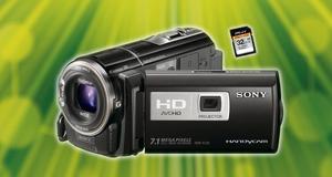 Vinn hendig Sony-videokamera med projektor