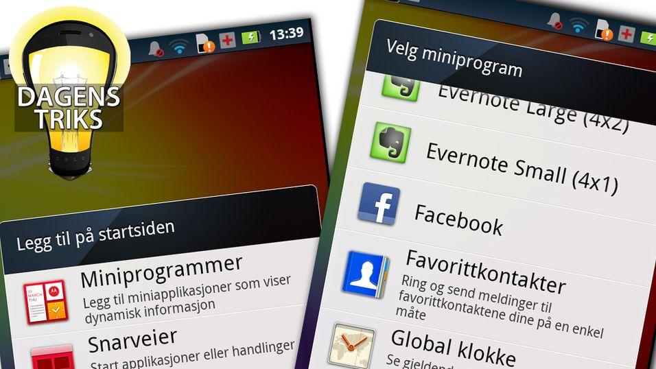 TIPS: Tilpass startskjermen på mobilen