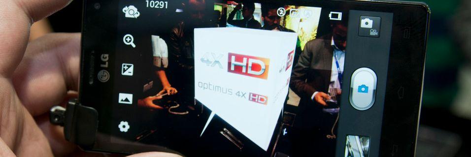 Her i Norge er det Optimus 4X HD som er nærmest butikkhyllene.