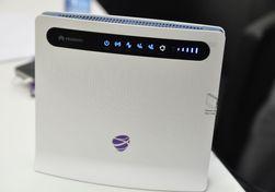 4G-ruteren til Huawei leveres med TeliaSonera/NetCom-logo.