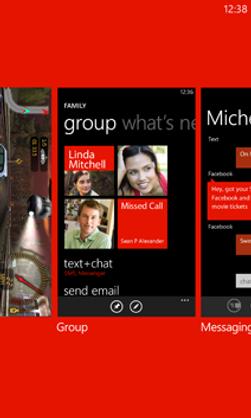 I Windows Phone veksler du mellom apper ved å holde inne Tilbake-tasten.