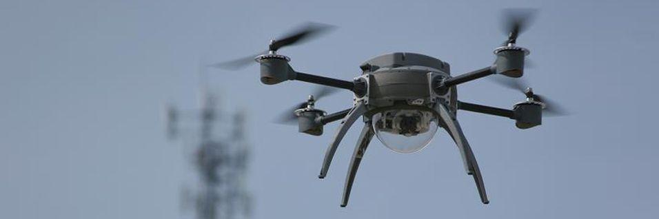 Bildet er av en speiderdrone kalt Aeryon og har ingenting med den danske dronen å gjøre.