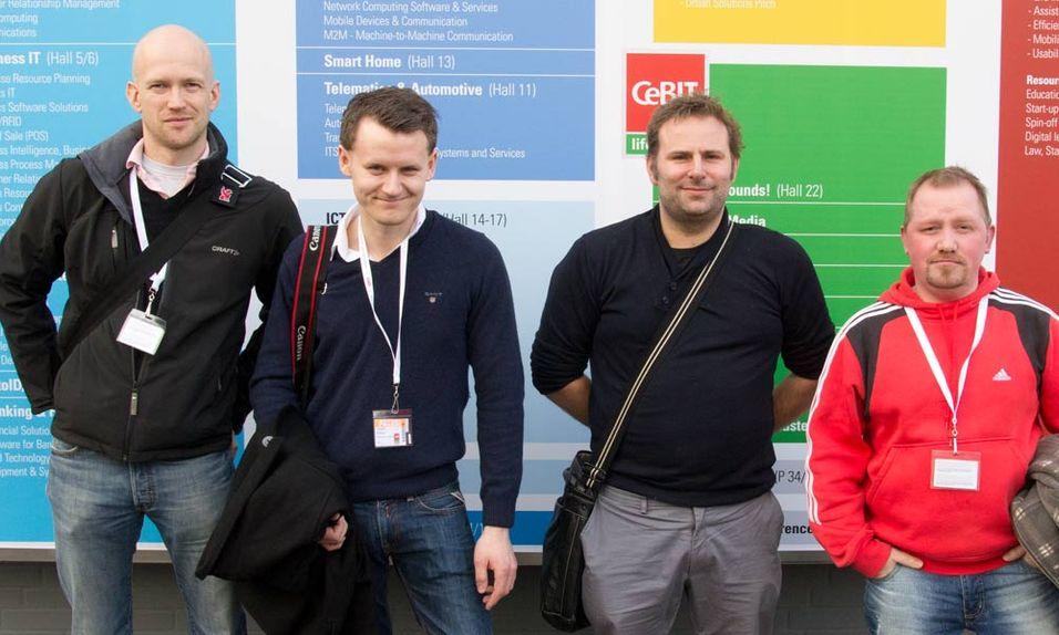 Fra venstre: Rolf, Jørgen, Claes og Vegar