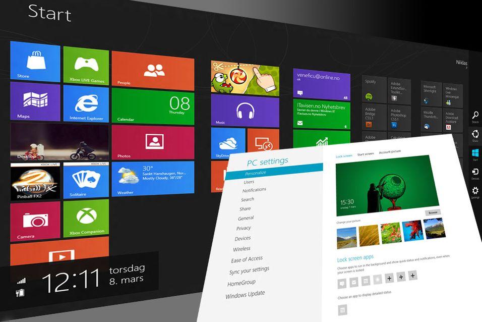 SNIKTITT: Så lekkert er Windows 8