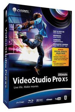 Corel VideoStudio Pro X5 Ultimate er den mest avanserte versjonen.