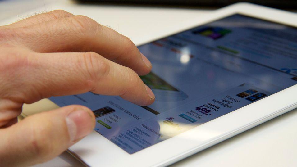 Med fingerbevegelser går det raskere å navigere mellom apper på iPad. (Foto: Kurt Lekanger)
