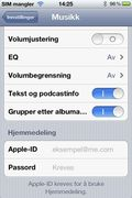 Tast inn samme Apple ID og passord som du har oppgitt for Hjemmedeling i iTunes.