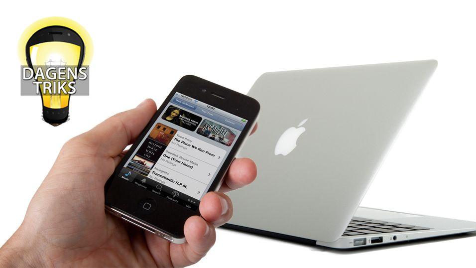 TIPS: Del musikk mellom Apple-dingsene dine
