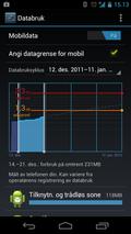 Med Android 4 på mobilen slipper du ubehagelige overraskelser når mobilregningen kommer.