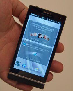 Xperia S kjører Google operativsystem Android, men Sony har gjort store endringer i menyene.
