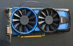Radeon HD 7770 med viftene ved siden av hverandre