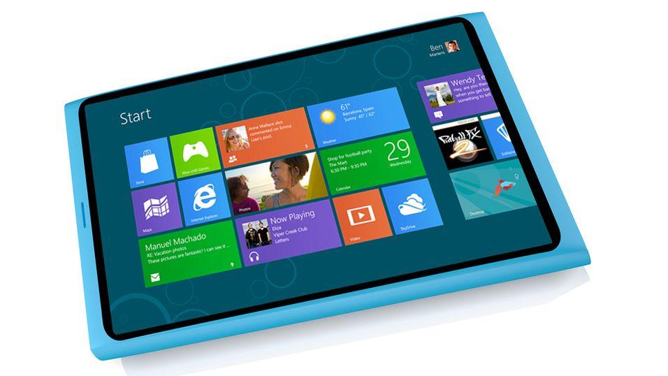 Nokias designsjef bekreftet nylig at Nokia jobber med et Windows 8-nettbrett. (Bildet er manipulert)