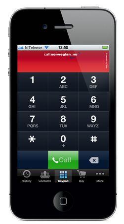 Slik ser SkyCall ut på iPhone.