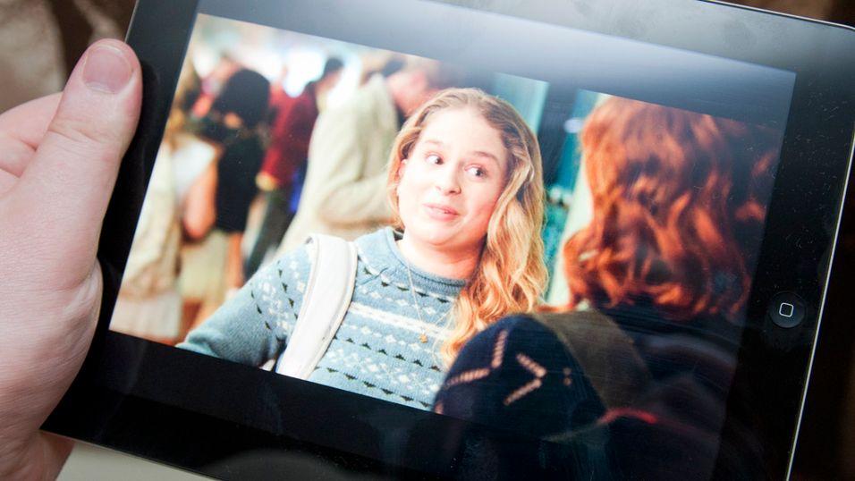 Den nye skjermen gjør iPad utmerket til høyoppløste spill og film.