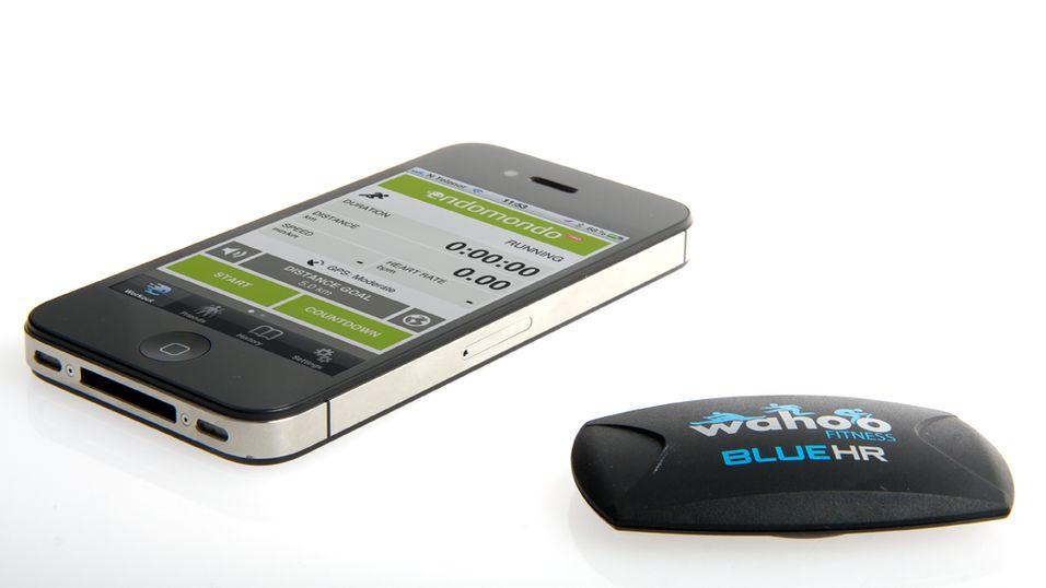 Wahoo Blue HR fungerer på alle telefoner med Bluetooth Smart-støtte, i første omgang iPhone 4S. (Foto: Kurt Lekanger)