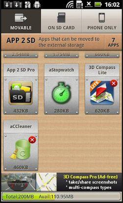 App 2 SD hjelper deg med å frigjøre verdifull lagringsplass på mobilen din.