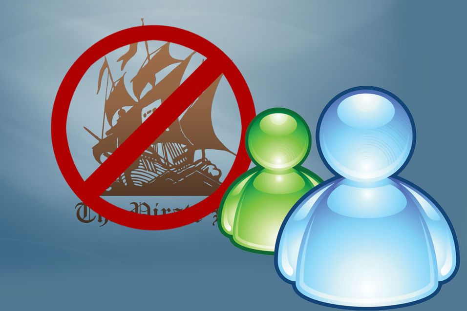 Microsoft Messenger blokkerer Pirate Bay-lenker