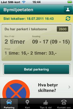 Parkering Oslo.