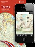 Kartene i appen er de samme som papirkartene i Norge-serien fra Nordeca.