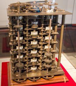 Dette er en skalamodell av Babbages såkalte