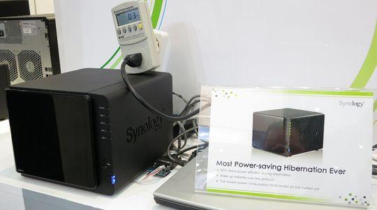 Synology DS412 skal kun bruke rundt tre watt i dvalemodus.