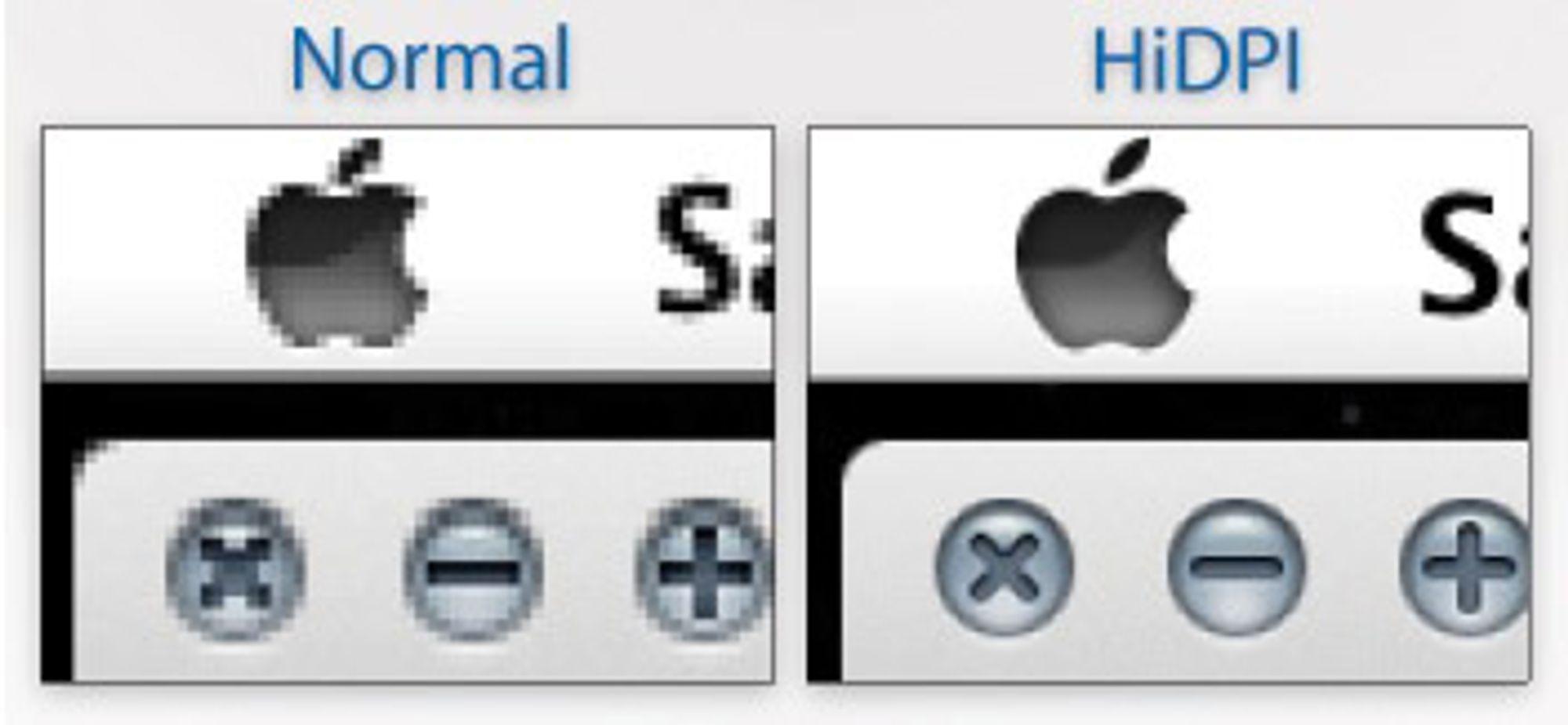 Grensesnittet i operativsystemet blir mye mer polert så snart grafikerne får flere piksler til rådighet.