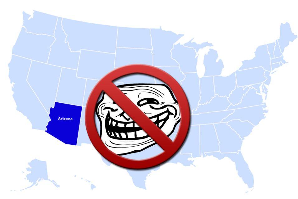 Trolling på internett kan bli forbudt i Arizona