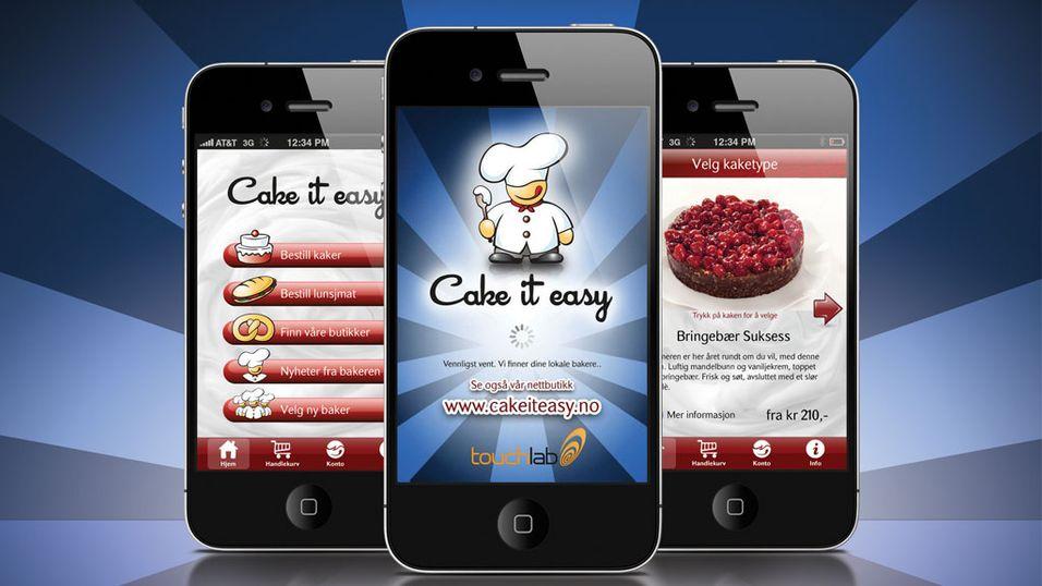 Bestill kaker med mobilen