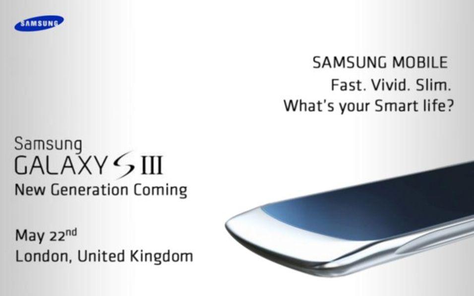 Samsungs lansering av Galaxy S III lekket på nett